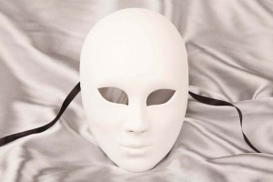 Blank full face Volto masquerade mask to decorate