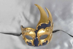 blue swan shaped carnival mask