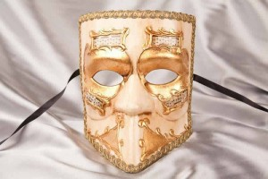 Bauta Melody - Traditional Bauta Masks with Musical Notes