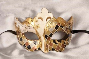 autumn colour mosaic masquerade mask