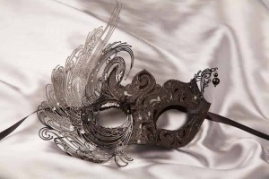 Luxury Venetian mask with metal detail