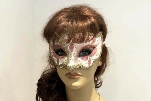 gold carnival mask - Iris on female face