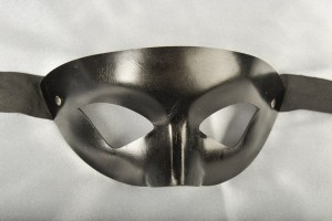 Black leather mask for men named Estro