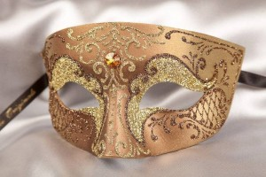 Bronze Venetian mask for man - Tomboy Gold