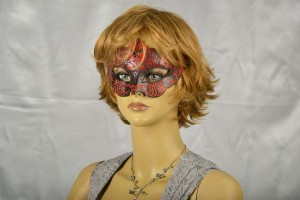 Giglio Iris Venetian mask on female models face