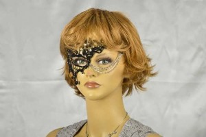 Phantom flock strass mask on female models face