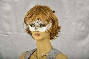 lace masquerade mask on female model