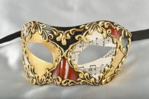 masquerade ball mask Colombina Musica