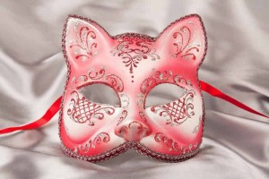 Gatto Fiore Silver - Animal Cat Mask