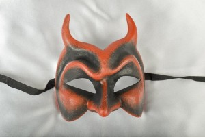 Red Diavolo masquerade ball mask