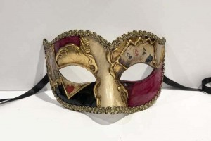 Poker decorated Semplice sweetheart masquerade mask