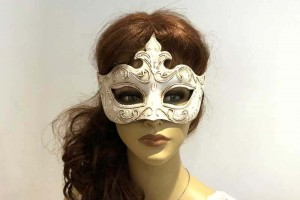 Cream mask with stucco Decor - Giglio stucco shown on female face