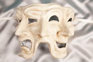 Triple Face Mask - Venetian Theatre Mask