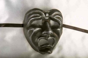 Tragedia Graphite - Tragic Crying Sad Face Drama Masks