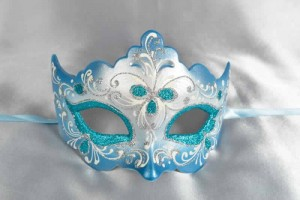 turquoise Ladies Ball Mask - Giglio