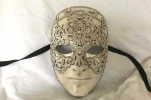 Silver Eyes wide shut mask for men