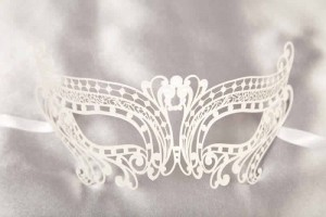 White Chic - Ladies Budget Filigree Metal Masks