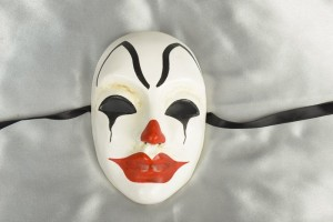 Volto Pagliaccio - Full Face Horrified Clown Halloween Mask