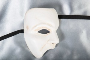 white Famous Phantom Venetian Masks