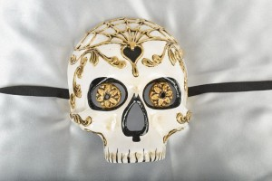 Venetian Day of the Dead Halloween Skull Mask