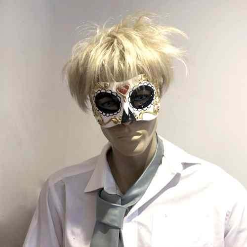 Look a like Boris Johnson masquerading in Day of the Dead mask