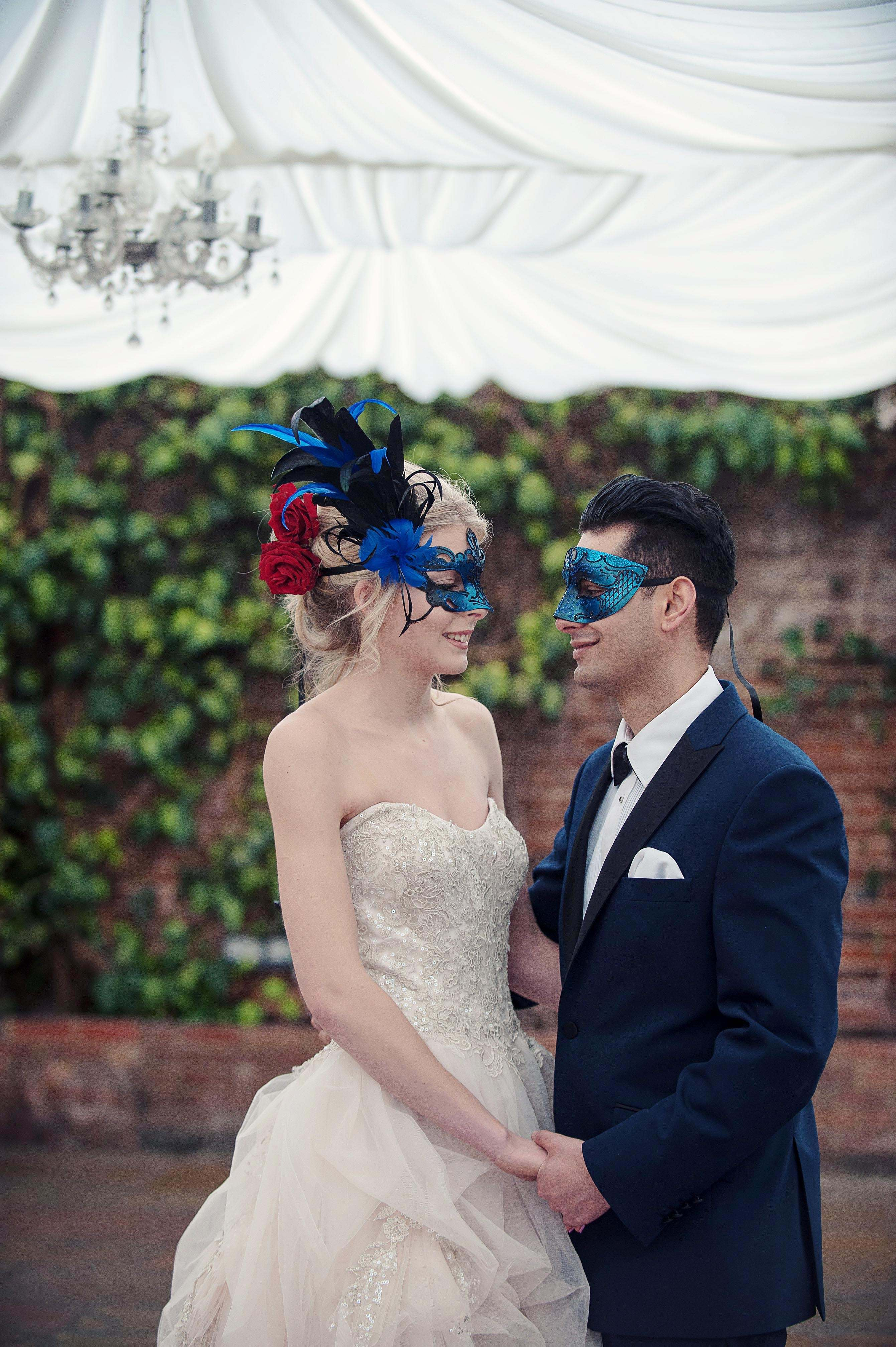 Bride and Groom in masks