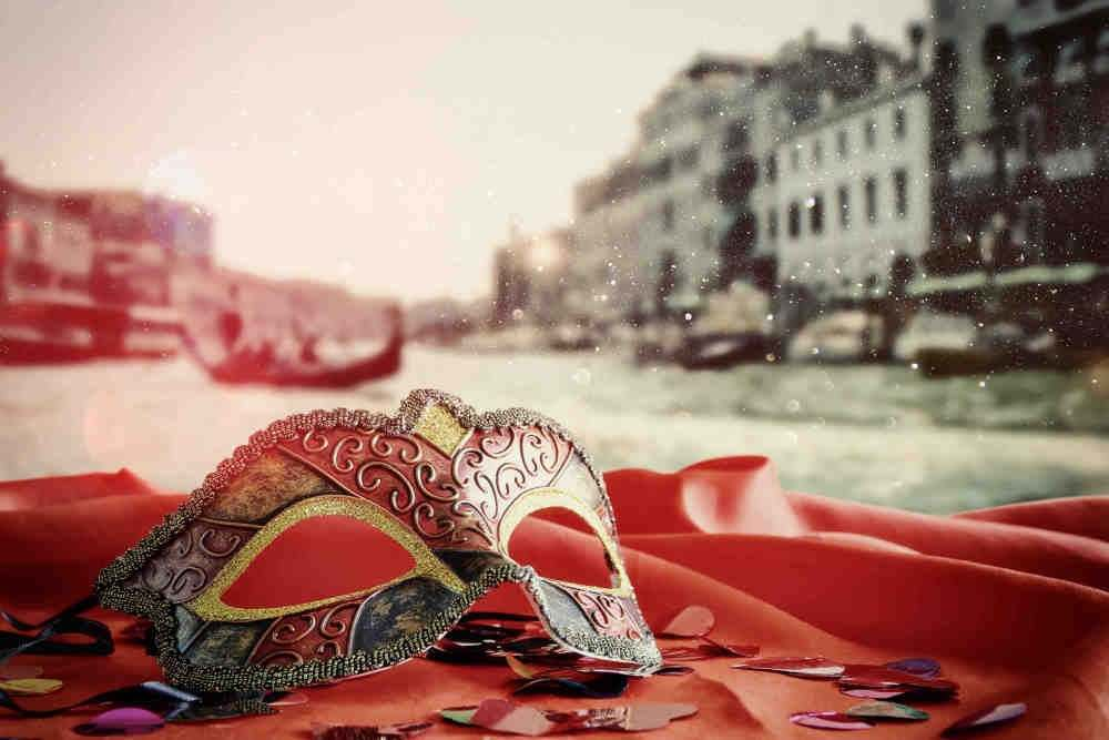 Mask with Venice background