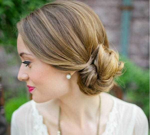 Side Bun Hairstyle for masked ball
