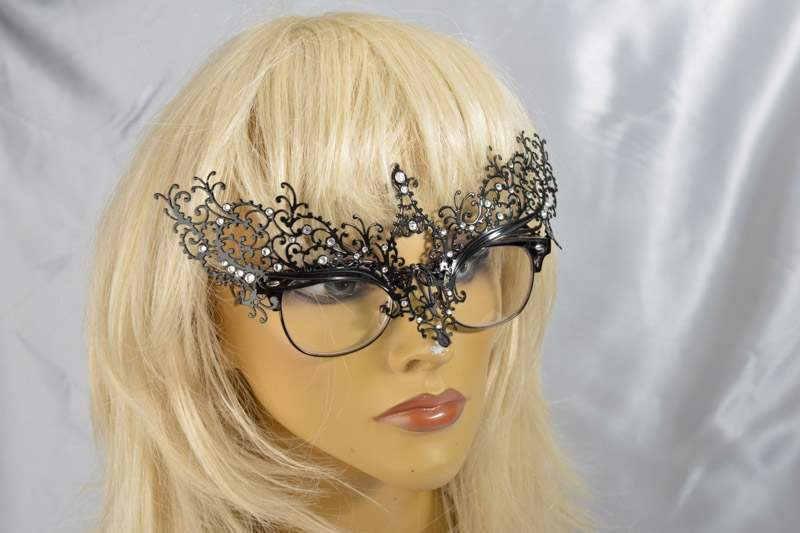 mask attached to glasses
