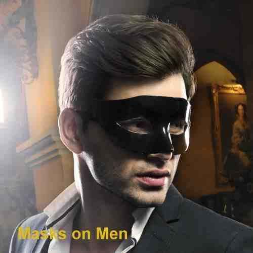 Photos of masks on men