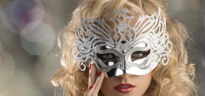 Lady in silver mask