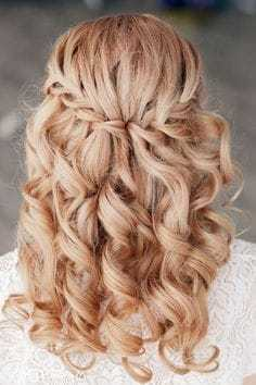 Waterfall Braids Hairstyle for masquerade ball