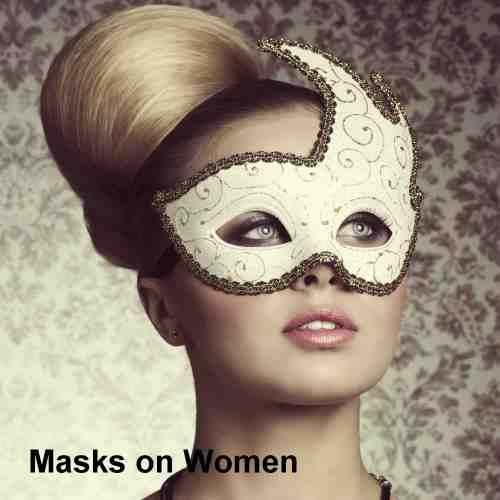 Photos of masks on women