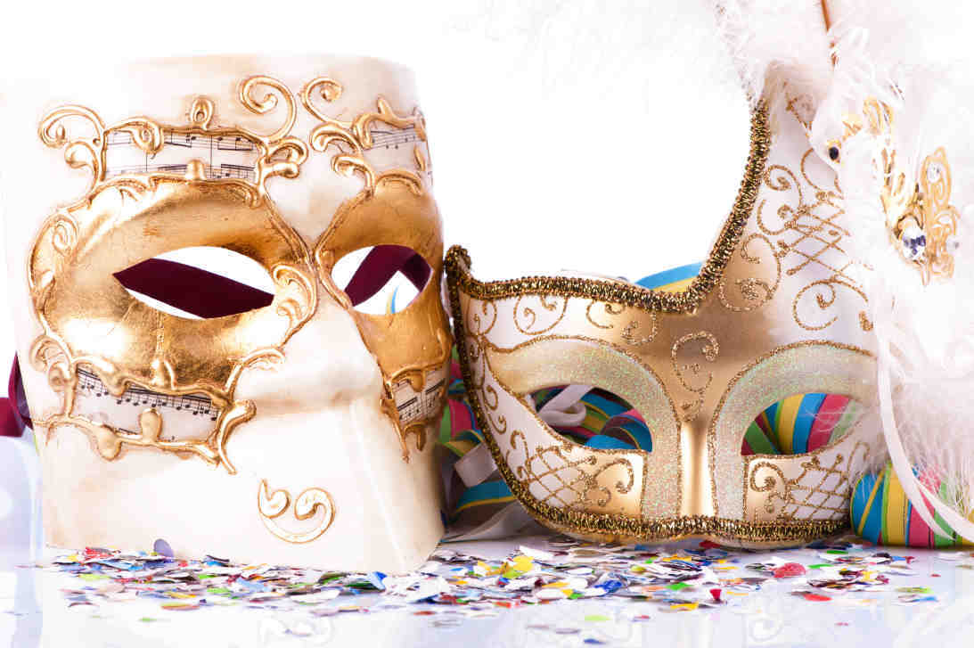 Couples Christmas masked ball masks