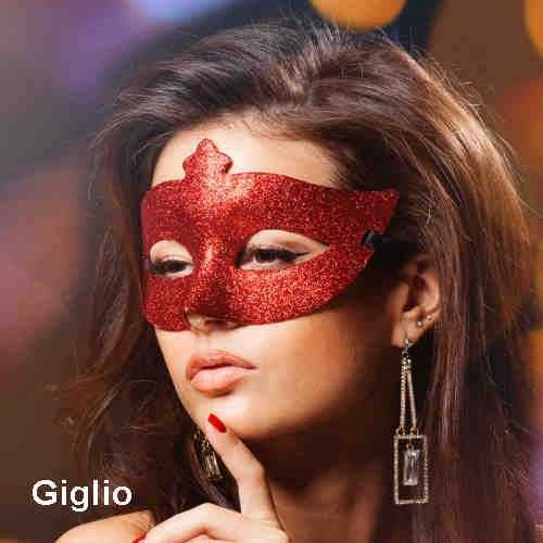 Giglio mask on woman